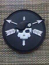 Green Beret Skull Patch Black/grey