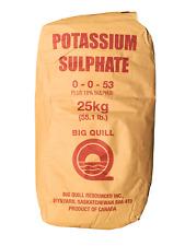Potassium Sulfate 0-0-53 Plus 18% Sulfur 100% Water Soluble Potash 55.1 Pounds