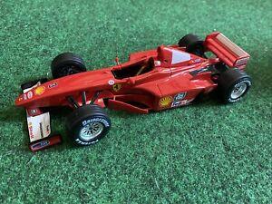 Rare Burago Ferrari F300 Schumacher 1999 1:24 Grand Prix Red Diecast F1 Toy Car
