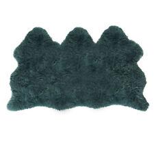 Lambland Extra Large Triple Sheepskin Rug Hide UK Made Luxury Dark Blue Teal