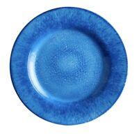 Set of (4) NWT Pier 1 ~ Capri BLUE Melamine Salad Plates Indoor Outdoor SUMMER