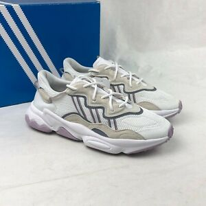 Size 10 Women's adidas Originals Ozweego Sneakers EE7012 White/Grey/Soft Vision