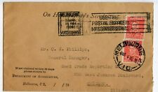 AUSTRALIA COVER 1938 FROM MELBOURNE WITH PERFINS                         (B449)