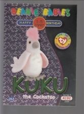 1999 TY Beanie Babie Series 2 Birthday/Rookie Card Kuku Green #263