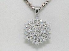Diamant Brillant Anhänger 585 Weißgold 14Kt Gold 0,50ct TW Si