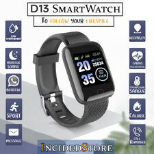 OROLOGIO SMARTWATCH ANDROID IoS D13 FITNESS TRACKER DONNA UOMO IMPERMEABILE