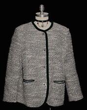 WHITE & BLACK WOOL Austria Women Hunting Western Dress JACKET Coat 44 14 L