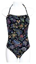 J Crew Womens Blue Cut Out One Piece Swimsuit Floral Paisley Print G4031 6