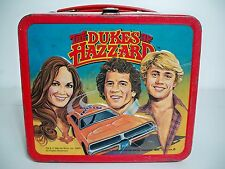 D1006795 DUKES OF HAZARD LUNCHBOX & THERMOS 1980 METAL LUNCH BOX BOA LUKE DAISY