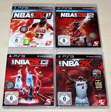 4 PLAYSTATION 3 giochi ps3 raccolta-NBA 2k11 2k12 2k13 2k14 Basket (2k15)