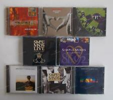 8x CD Sammlung - SIMPLE MINDS - Once Upon a Time, Real Life,.. .