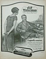 PUBLICITÉ DE PRESSE 1926 JIF WATERMAN PORTE PLUME LES DEUX FAVORIS