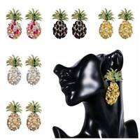 Fashion Women Pineapple Crystal Rhinestone Stud Drop Dangle Earrings Jewelry