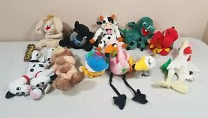 Lot of 11 Vintage 1998 Meanies beanbag plush The Idea Factory Series 1 & 2