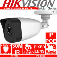 HIKVISION Hiwatch 2MP 30m IR IP PoE Network MINI Bullet CCTV Camera IPC-B120 UK