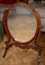 VINTAGE/ANTIQUE WOODEN DRESSING TABLE SWING MIRROR - PRETTY
