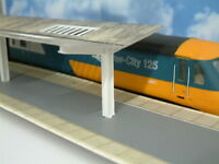 Station Island Platform Canopy Card Kit with 3 D printed Supports and Skylights