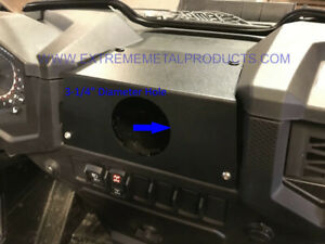 Polaris RZR In-Dash Stereo Panel Blank Panel with round hole P/N: 13825-02-Blank