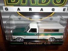 GREENLIGHT 1/64 DAD'S GARAGE GREEN MACHINE 1972 CHEVROLET C-10 CANOPY  CAMPER