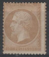 "FRANCE  STAMP TIMBRE 21 "" NAPOLEON III 10c  BISTRE 1862 "" NEUF x TB A VOIR  M475"