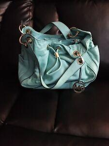 MICHAEL KORS Large Tiffany Blue Bucket Bag