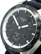 Tissot PRS 516 Men's Automatic Black Leather Band SS Case Watch T1004281605100