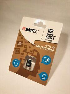 EMTEC 16GB MICRO SD HC CLASS 10 GOLD MEMORY