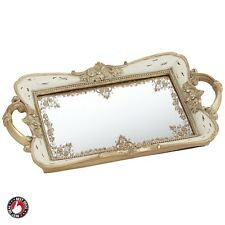 Mirrored Tray Antique Mirror For Perfume Bathroom Storage Bedroom Dressing Decor