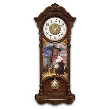 John Wayne True Patriot Illuminated Stained-Glass Wall Clock