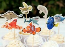 FINDING DORY NEMO CUPCAKE TOPPERS OCEAN FISH KIDS BIRTHDAY PARTY