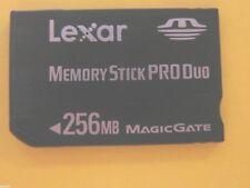 SONY LEXAR Memory STICK PRO Duo M carte memoire 256 MB mega APN Vintage DSC