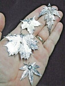 Silver Plate Maple Leaf Collection - Real Leaf Jewellery Clearance 1015