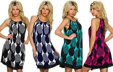Geometrische Damenkleider für die Freizeit