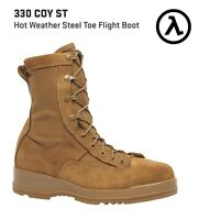 BELLEVILLE 330 COY ST HOT WEATHER STEEL TOE FLIGHT BOOTS * ALL SIZES - NEW