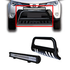 "Toyota Rav4 Nudge Bar Black Bumper Grille Guard 13-15 + 25"" 162W Led Light Bar"