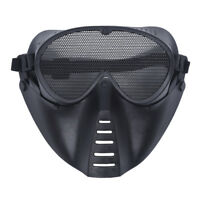 MASQUE DE PROTECTION NOIR POUR AIRSOFT PAINTBALL CHASSE N9H9