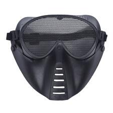 MASQUE DE PROTECTION NOIR POUR AIRSOFT PAINTBALL CHASSE N9H9