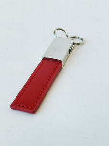 Designer Style Red Leather Looking Key Holder for VW Red Polo Golf Tiguan