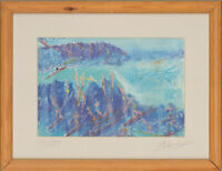 Marchant - Signed & Framed Contemporary Digital Print, Surfing in Hawaii
