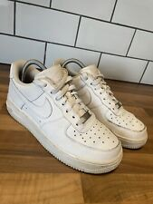 Nike Air Force 1 AF1 82 All White Mens Unisex Trainers Sneakers UK 6 EU 39