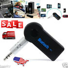 Wireless Bluetooth Audio Receiver 3.5mm AUX Adapter Car Music Stereo Hands-Free