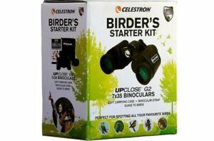 Celestron UpClose G2 7 x 35 Binoculars & Bird Guide Birdwatchers KIT #73150 (UK)