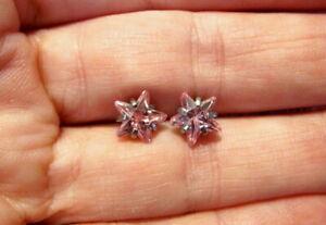 Crystal Pink Star Earrings 8mm Dermal Piercing Navel~Steel~Made w/ Swarovski