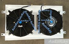 Auminum Shroud + Thermo Fans For Holden & Chevy HQ HJ HX HZ 253 & 308 V8