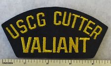 USCG CUTTER VALIANT - US COAST GUARD CUTTER WMEC-621 HAT / CAP PATCH (1967+)