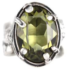 RARE SIZE 9 Silpada NEW R1883 Green Olivine Swarovski Sterling Silver Ring HTF