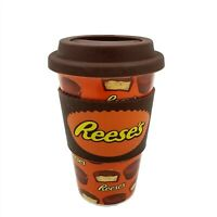 Reese's Peanut Butter Cup Travel Ceramic Mug Silicone Lid and Sleeve by Galerie
