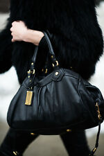 NEW MARC BY MARC JACOBS CLASSIC Q GROOVEE SATCHEL BLACK