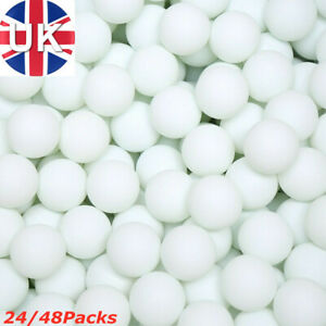 24/48x Ping Pong Balls 40mm White Colours No Logo Table Tennis Beer Kids Play UK