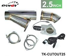 2.5 INCH EXHAUST CUTOUT ELECTRIC DUMP Y-PIPE CATBACK CAT BACK TURBO BYPASS STEEL